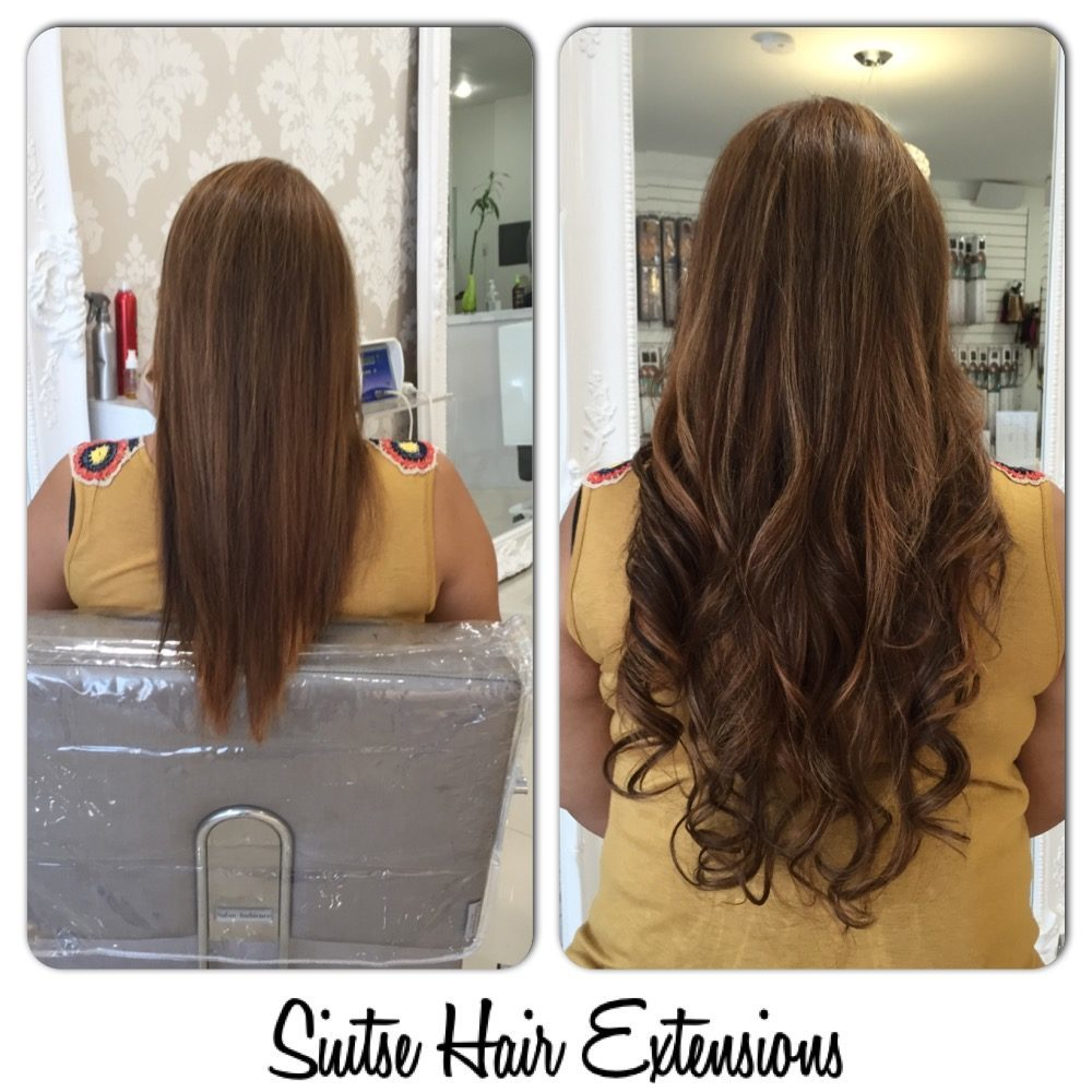 before and after hair extensions and more