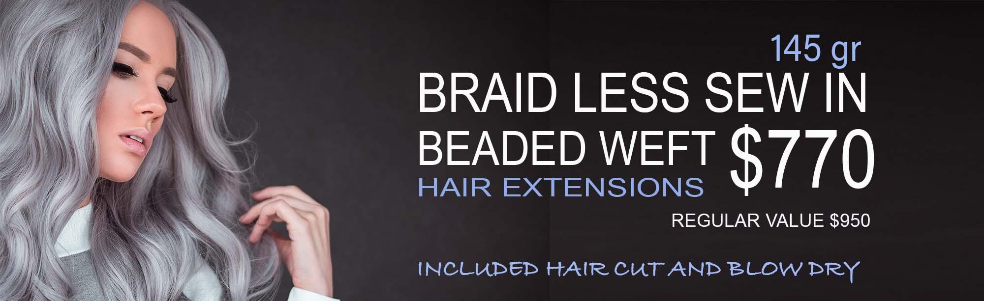 braid less sew in Hair Extensions Miami